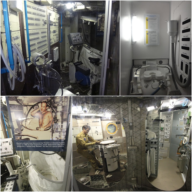 Observing the life as an astronaut in the skylab station on the space at Space and Air Museum in Washington DC, USA
