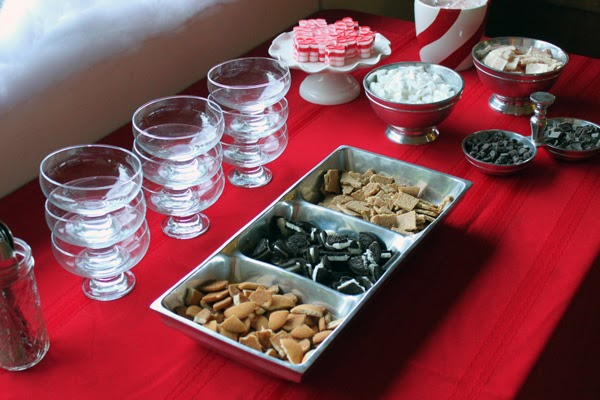 Who Pudding bar for a Grinch holiday party