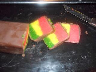 حلوة الكوك بالألوان بدون طهي بالصور