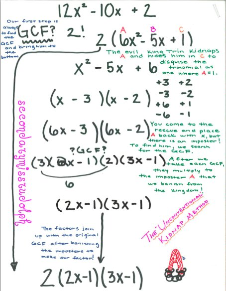 Printables Factoring Trinomials A 1 Worksheet Answers the secondary classroom can be fun too factoring trinomials last semester i found a really funky way of and this finally put story behind method