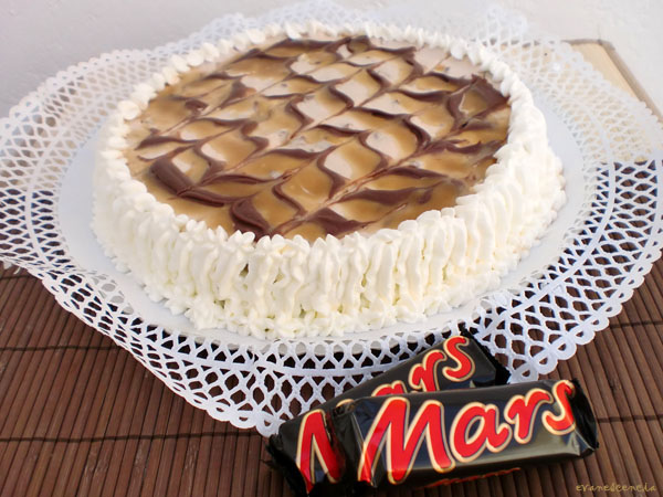 tarta de queso chocolatinas mars