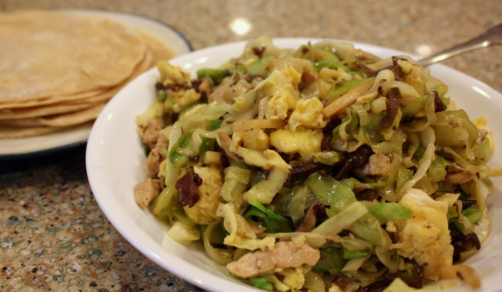 challenge was moo shu pork i love moo shu i had made it once in the ...
