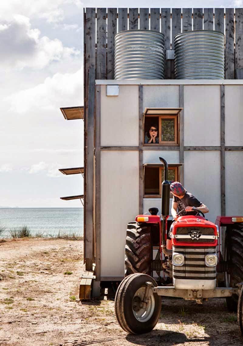 cabaña móvil en las dunas