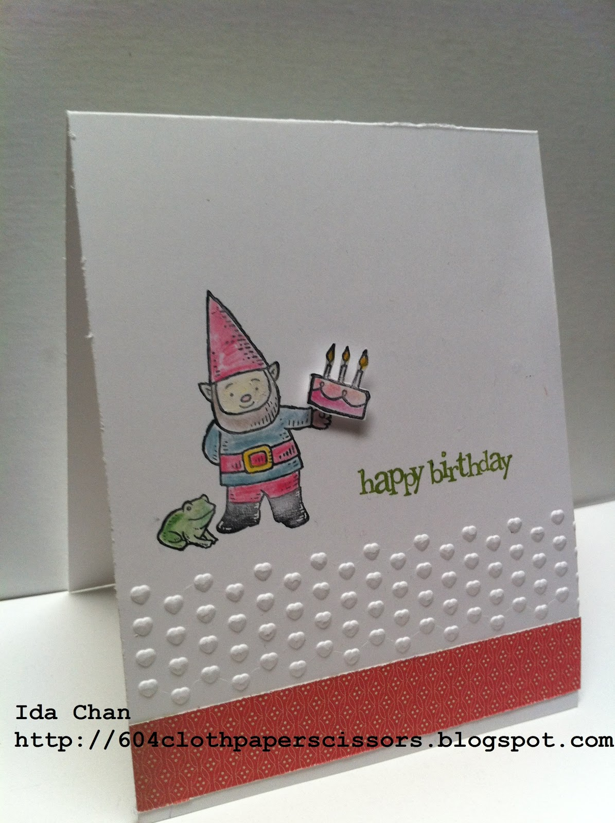 Stampin' Up! Gnome Sweet Gnome card by Ida Chan, Vancouver