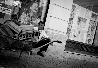 Guys enjoying street photograhy