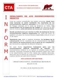 RESULTADOS DE LOS RECONOCIMIENTOS MEDICOS
