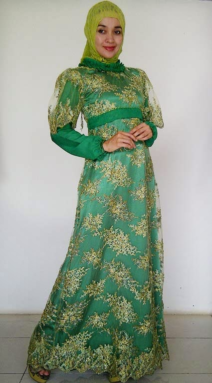 Gambar Model Baju Kebaya Gamis Brokat
