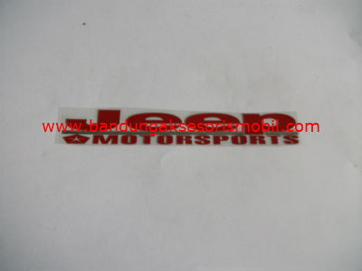 Emblem Alumunium Red Jeep