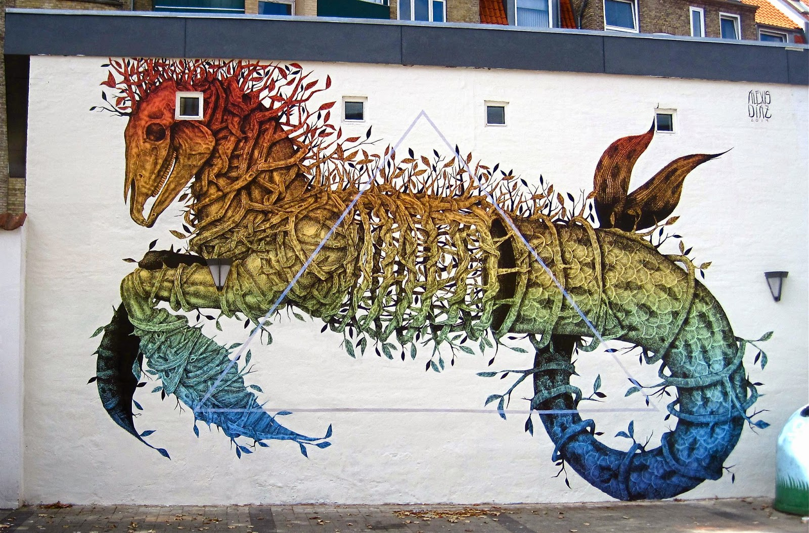 Our friend Alexis Diaz was also invited to paint on the streets of Aalborg in Denmark for the first edition of We Aart Street Art Festival.