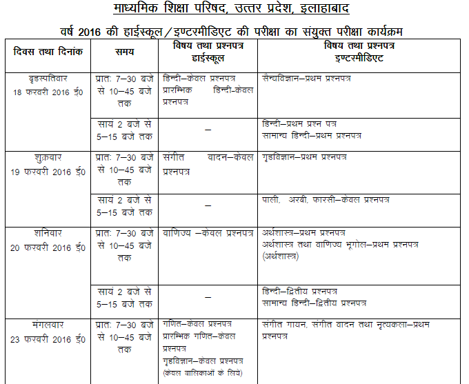 Maths syllabus for class 12 up board up board class 12 for 10th time table 2016