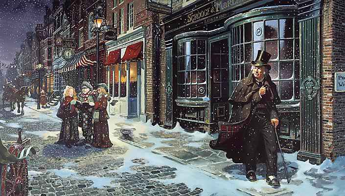 A typical Dickensian Christmas card