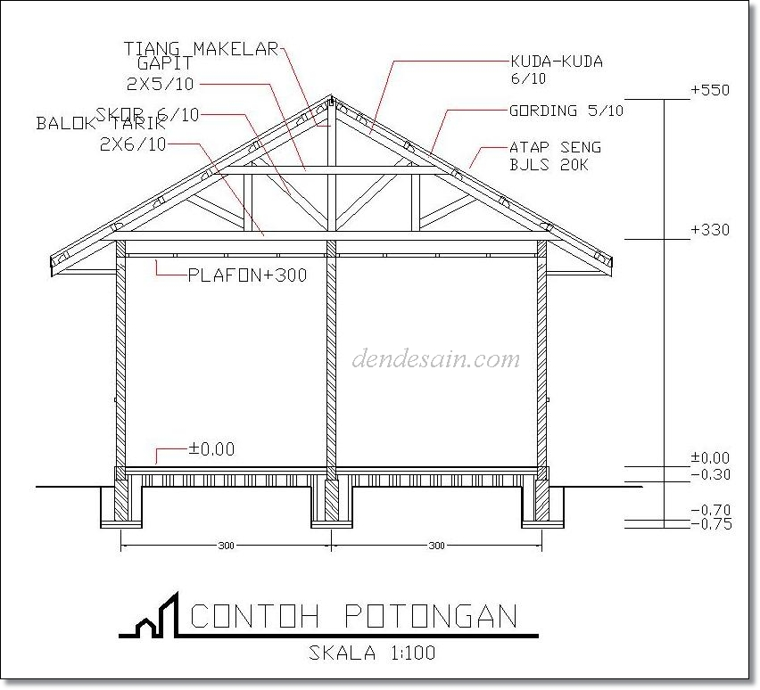 autocad tutorial cara membuat potongan rumah autocad