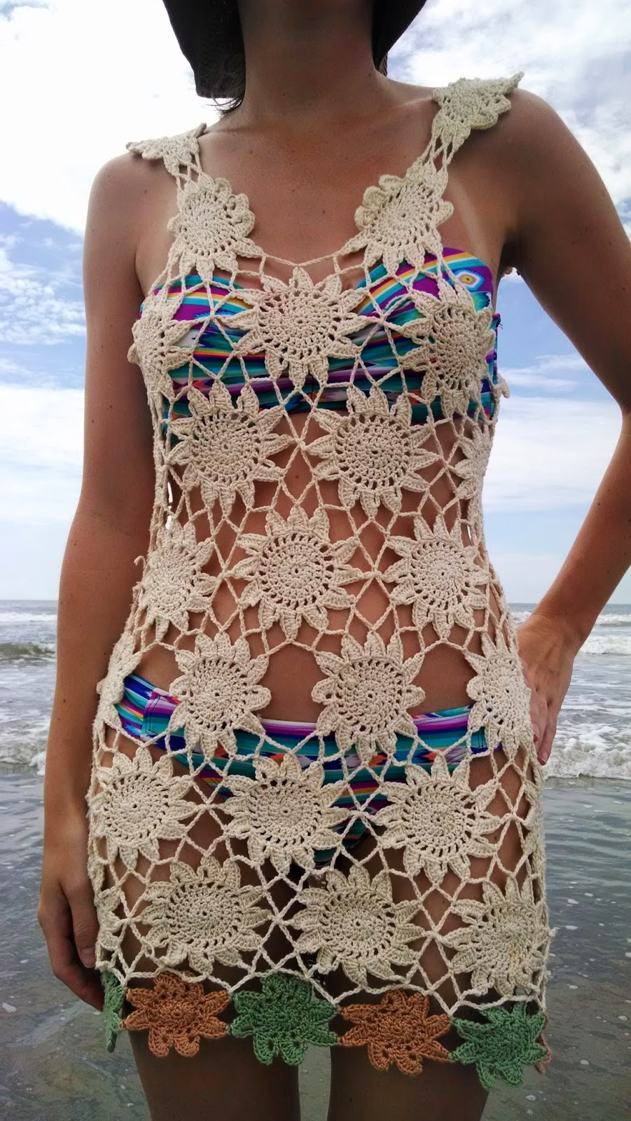 Pattern trailing flowers beach cover up knit a bit crochet away this crochet beach cover up is perfect for your next trip to the beach think of this as a pattern recipe to make a cover up that fits your body as snug bankloansurffo Images