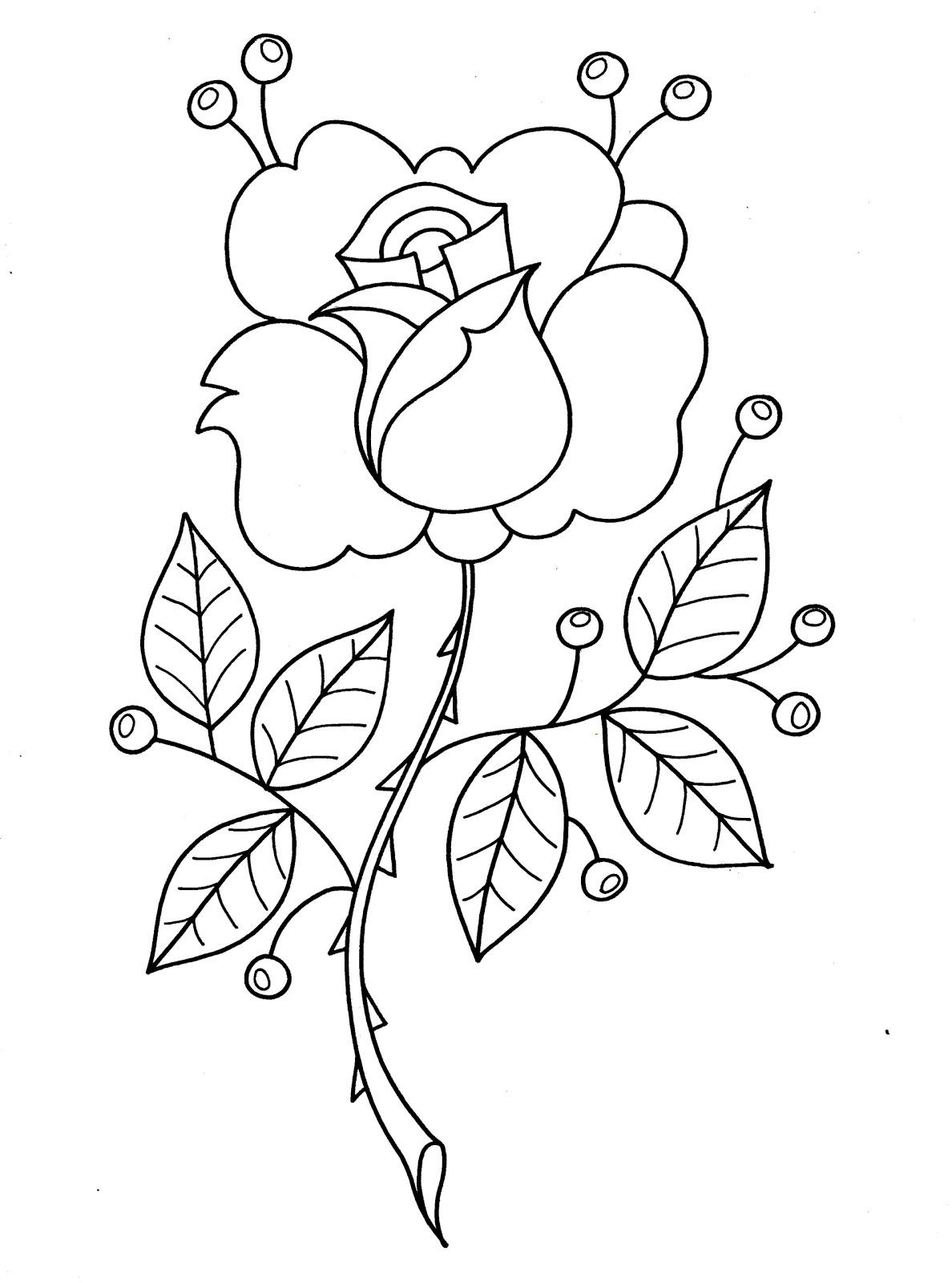 El Rincón de las Melli: Rosa para colorear