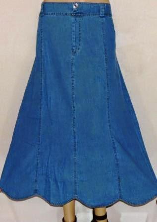 Rok Panjang Bahan Jeans RM318