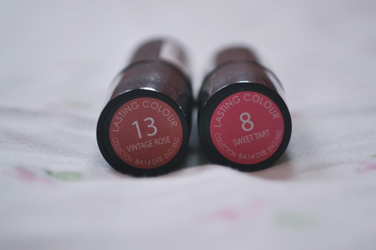 collection lasting colour lipstick vintage rose sweet tart
