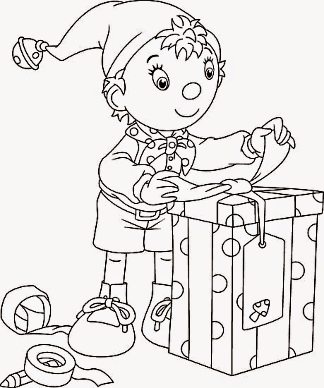Coloring Pages Christmas Elf Coloring