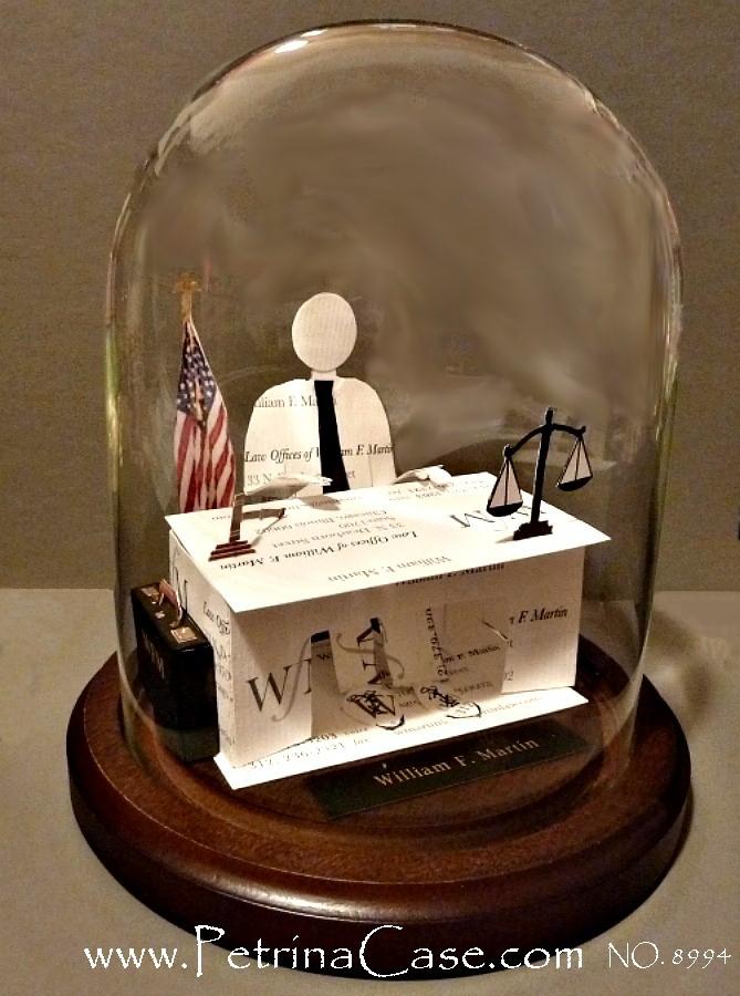 Petrina Case Studio: Lawyer Business Card Sculpture