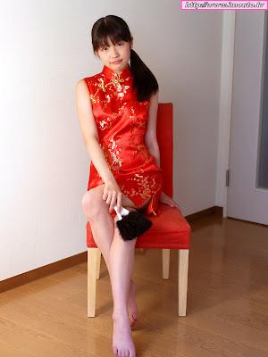 Kasumi tokumoto red bikini