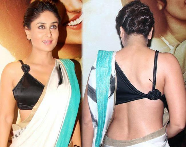 Kareena Kapoor khan hot backless blouse without bra innerwear sexy hot pics hot bollywood actresses