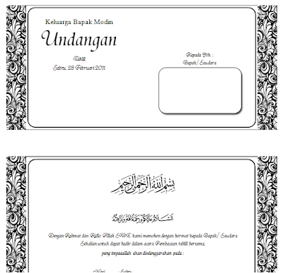 Search Results Doc Microsoft Word Undangan Nikah/page/5 - Template PSD