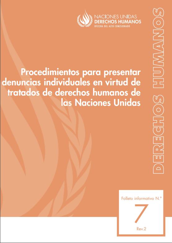 """""""Procedimientos para presentar denuncias individuales en virtud de tratados de derechos humanos de"""
