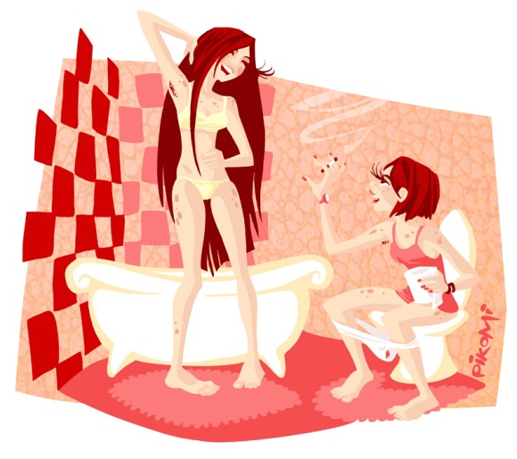 Alexander Pierschel pikomi deviantart mulheres cartuns estilizadas ilustrações