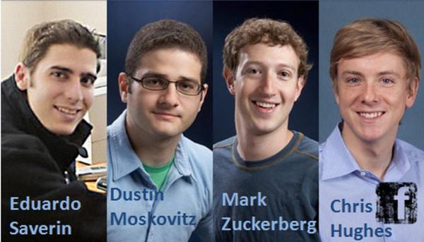 4 sinh viên sáng lập mạng xã hội Facebook