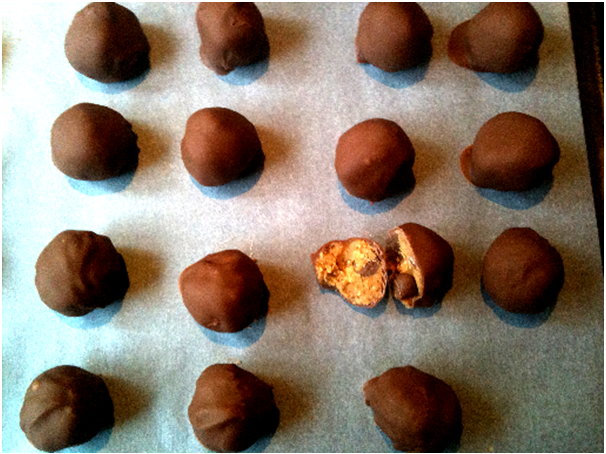 Lots of Paleo Chocolate Chip Cookie Dough Truffles