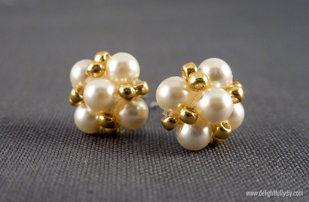 Delightfully DIY: Vintage Inspired Pearl Earrings