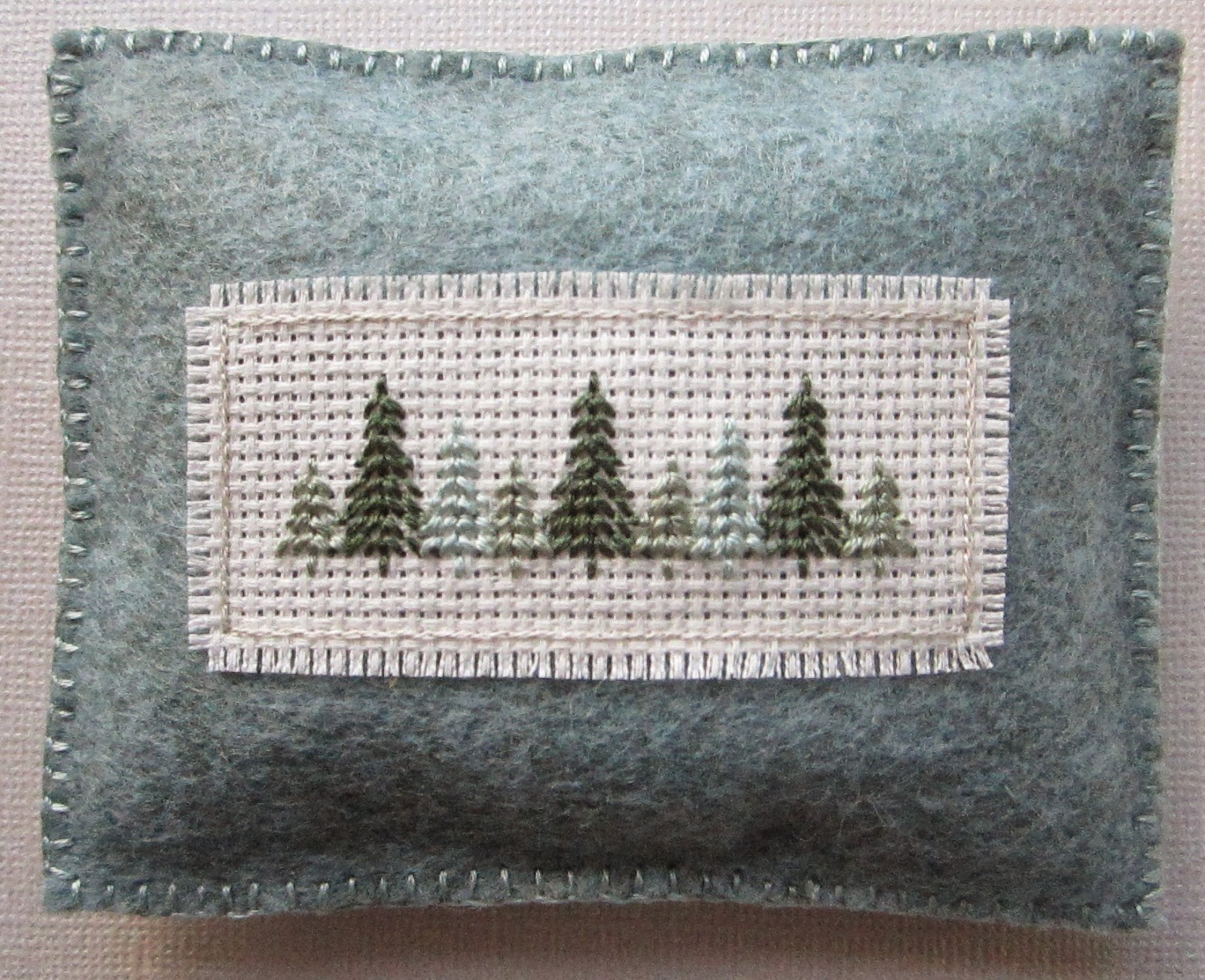 Embroidered Pine Sachet