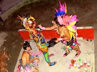 Body paint artists at Jungle Experience Koh Phangan