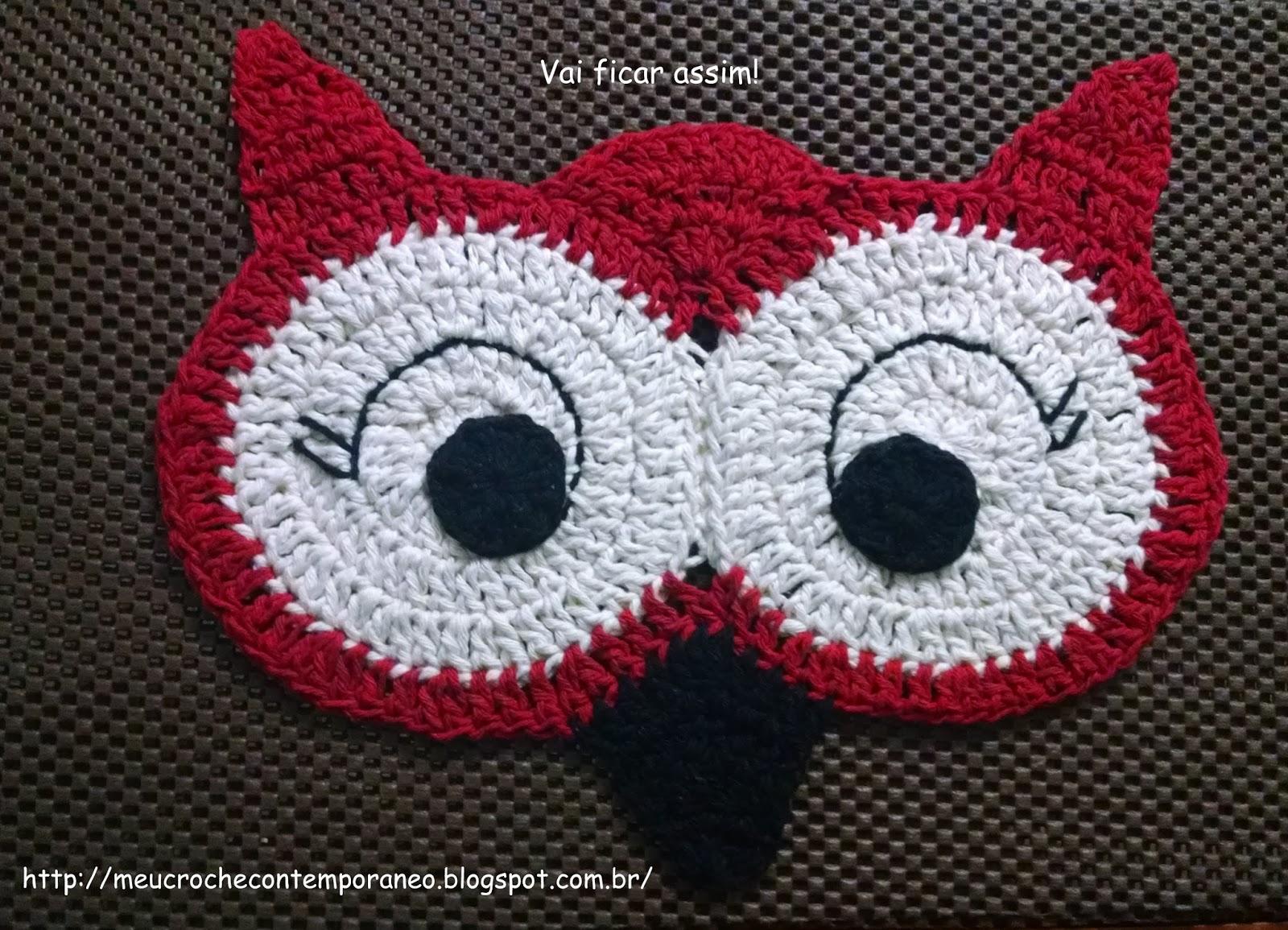 meu croch contempor neo jogo de banheiro coruja