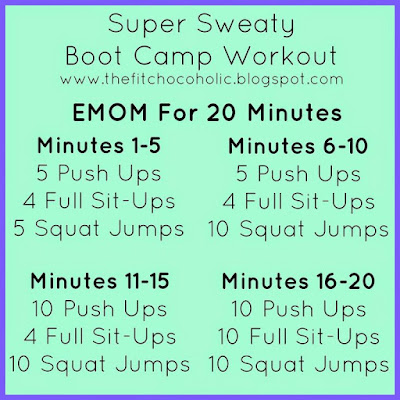 Super Sweat Bootcamp Workout - no equipment required!