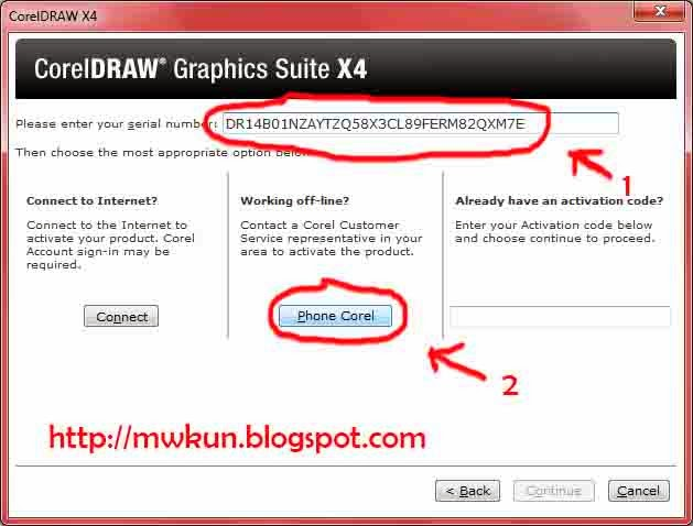 Corel draw x4 serial number and activation code keygen