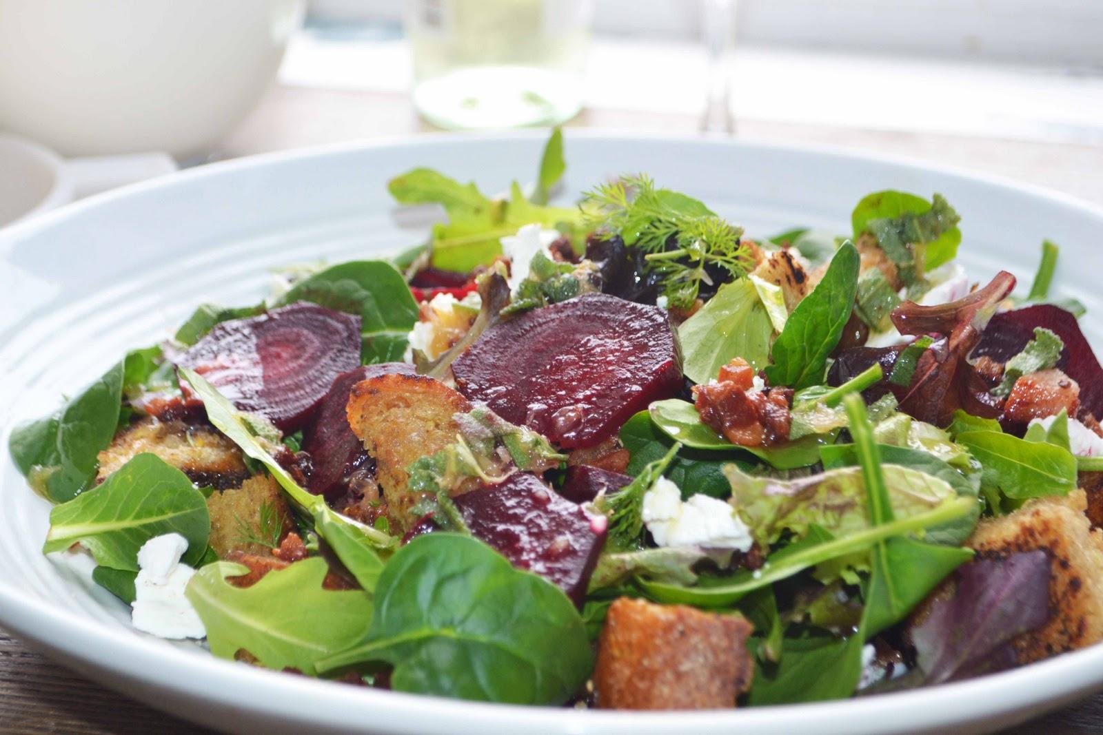 Winter Panzanella Salad/ My FIRST Guest Post!