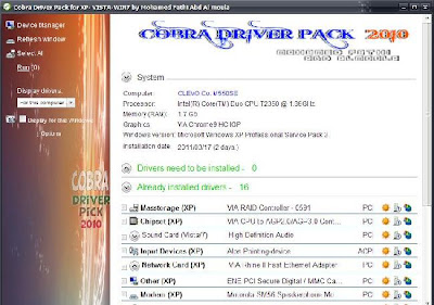 of information, one solution is to use a Cobra Driver Pack 2010