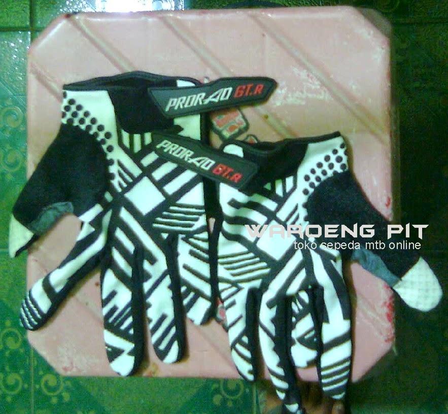 jual sarung tangan kaos Prorao GT R zebra putih sepeda mtb gunung murah waroengpit