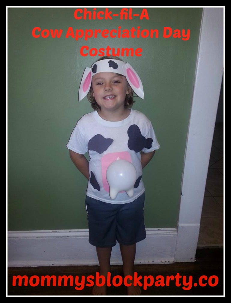 photo relating to Cow Costume Printable named Do it yourself Cow Dress for Chick-fil-As #CowAppreciationDay