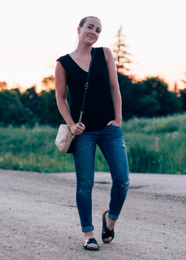 In My Dreams, Canadian personal style and fashion blogger wearing her favorite Theyskens Theory top