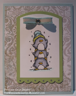 Whipper Snapper Pile of Penguins Christmas card by theweekendscrapper