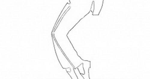 Silueta de Michael Jackson para colorear y pintar ~ 4 Dibujo