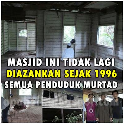 Masjid Dipendalaman Sabah Tidak Diazankan Sejak 1996 (5 Gambar)