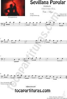 Sevillana Popular Partitura de Violonchelo y Fagot Sheet Music for Cello and Bassoon Music Scores