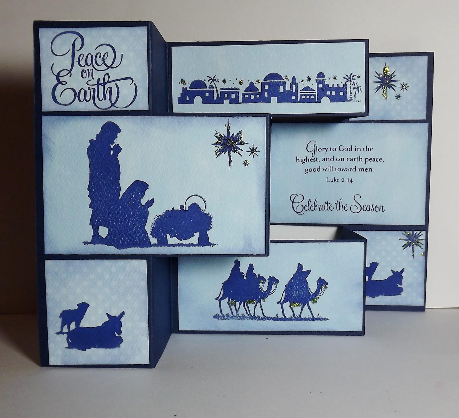 Busy with the Cricky: Nativity Tri-Fold Christmas Card