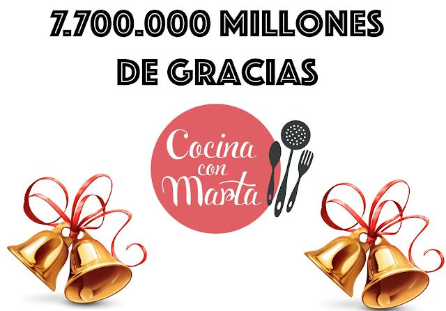 Cocina con Marta, feliz navidad, millones de visitas