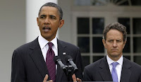 US president Barack Obama and treasury secretary Timothy Geithner