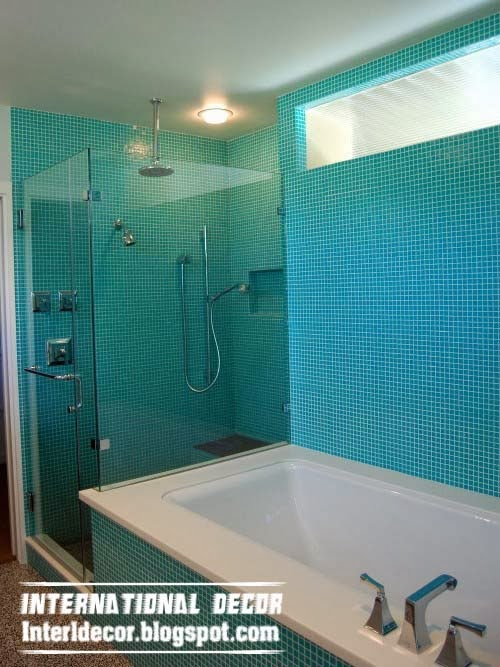 Turquoise bathroom unusual turquoise bathroom themes for Brown and turquoise bathroom ideas