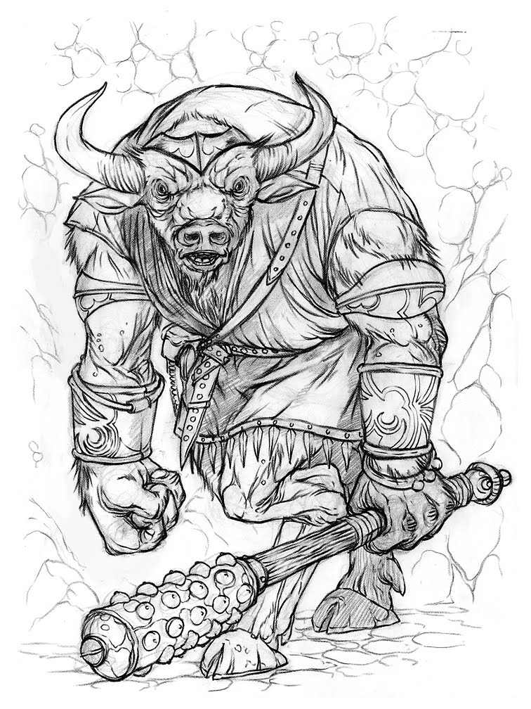 The Doodles Designs And Art Of Christopher Burdett Fresh From Minotaur Coloring Pages