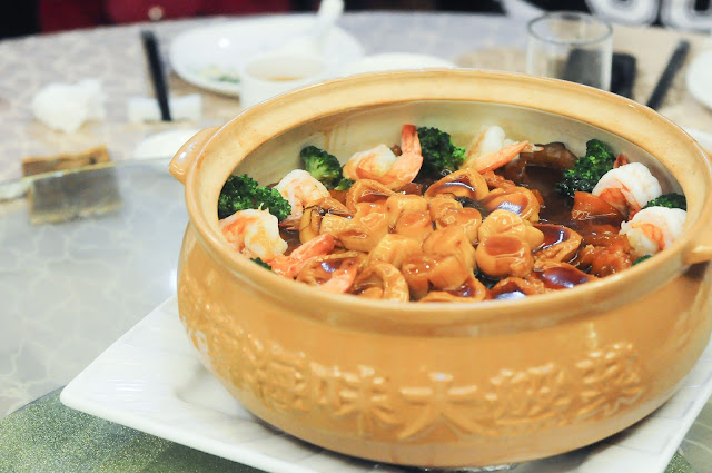 "WOPENG ""Poon Choy"" Braised Whole Abalone with Assorted Dried Seafood in Casserole"